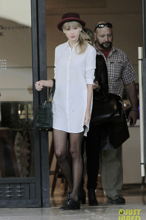 Taylor Swift shopping at Barney's New York