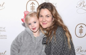 NEW YORK, NY - MARCH 07:  Drew Barrymore and daughter Frankie Kopelman Kopelman attend the 2017 Society Of MSK Bunny Hop at 583 Park Avenue on March 7, 2017 in New York City.  (Photo by Gary Gershoff/WireImage)